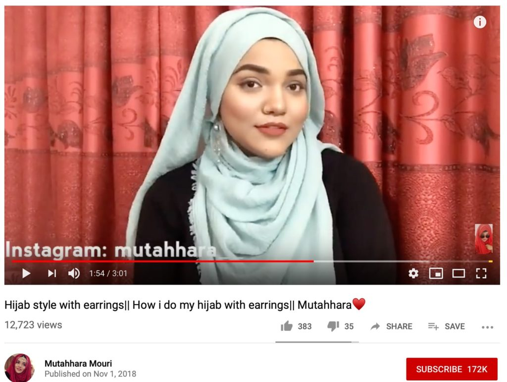 Hijab Style with Earrings - Youtube